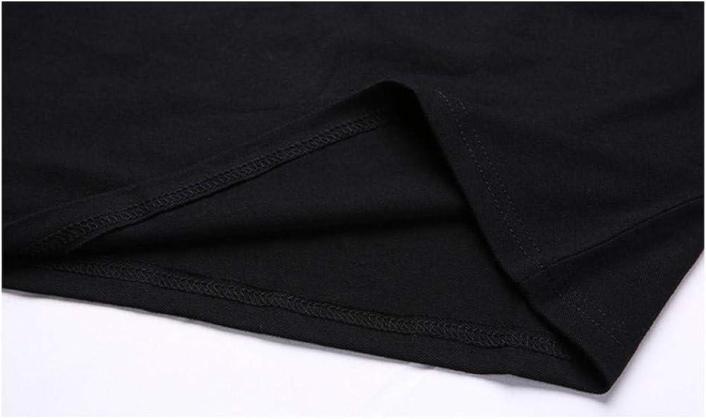 Magliette a Maniche Lunghe da Uomo Pieghe Casual in Cotone Top Slim Fit