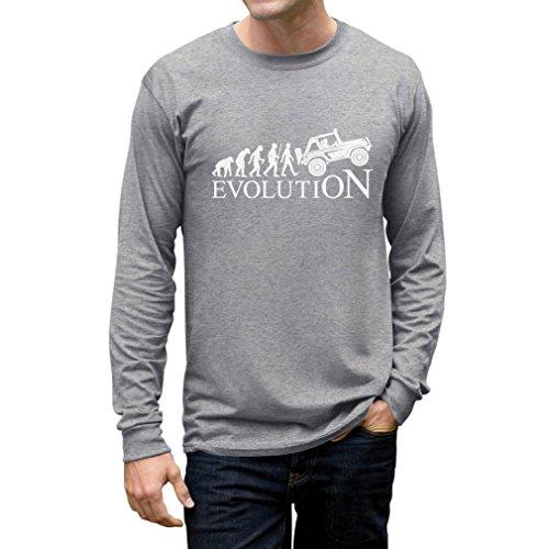 Tstars - Evolution 4x4 - Gift Off Road Lovers - Cool Long Sleeve T-Shirt X-Large Gray