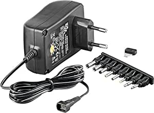 Wentronic AC/DC adaptor Negro adaptador e inversor de corriente - Fuente de alimentación (2250 mAh, CE, ROHS, Negro)