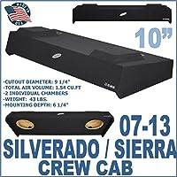 07-13 Chevy Silverado GMC Sierra Crew Cab Truck 10 Sub Box Enclosure