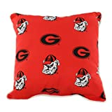 College Covers GEOODP Georgia Bulldogs Outdoor Decorative Pillow, 16'' x 16'', Red