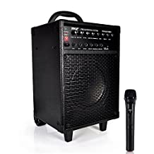 Pyle PWMA930IBT Wireless Portable Bluetooth Speaker System, Rechargeable Battery, Microphone, 600W