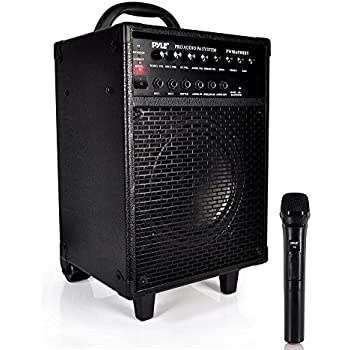 3f6f078a4 Wireless Portable PA Speaker System - 600W Bluetooth Compatible  Rechargeable Battery Powered Outdoor Stereo Speaker Microphone Set w   30-Pin iPod Dock