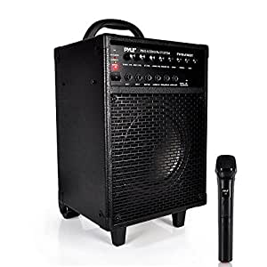 Pyle PWMA930IBT Wireless Portable Bluetooth PA Speaker System, Rechargeable Battery, Microphone, 600W