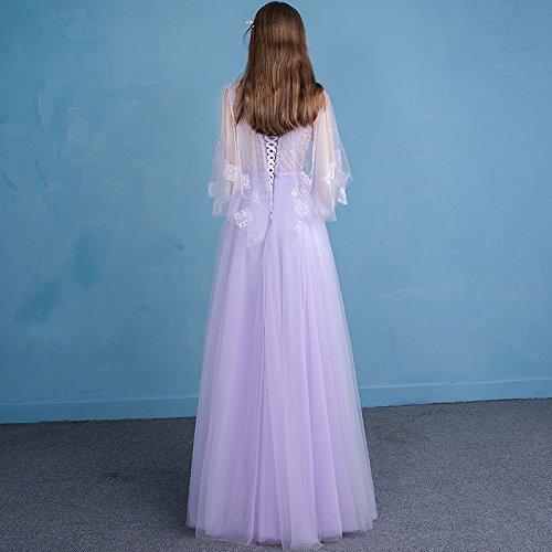 Robe De 12 Partie Mariée Président 6 Sun Goddess Manches Sur Longues De La Soirée De Mauve Mesure Mariée Banquet Robe YXwCHq
