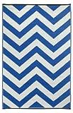 Laguna - Regatta Blue & White (5' x 8') by Fab Habitat