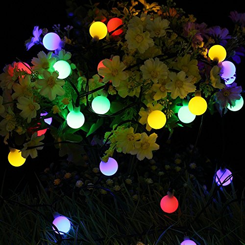 GDEALER Solar Outdoor String Lights 31ft 50 LED Waterproof - Import It All