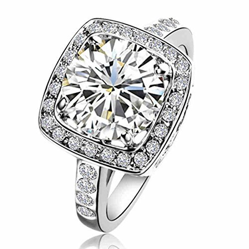 Yours Gorgeous Element Crystal 18k White Gold Plated Ring (9)