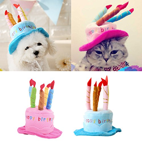 Small Dog Pet Cat Happy Birthday Party Candle Cute Cap Hat Custome Cosplay Generic