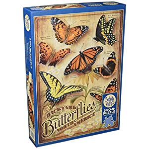 Cobblehill 85006 500 Pc Backyard Farfalle Puzzle Vari