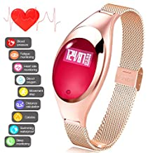 Fitness Tracker Watch Heart Rate Monitor Activity Wristband Pedometer Sleep Monitor Smart Bracelet Calories Track Step Track Health Band Waterproof Smart Watch for iPhone & Android phones