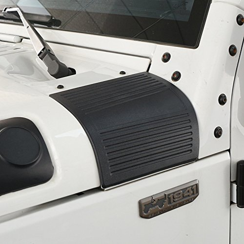 Opar Matte Black Cowl Body Armor for 2007 - 2018 Jeep JK Wrangler & Unlimited - Pair