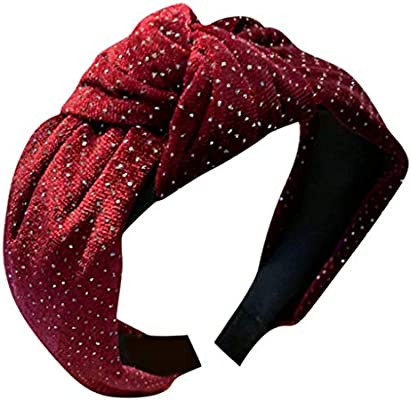 Scunci Style Headwrap Headband Red and White Stretch Hair NEW
