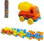 Caminhão Construção A Fricção Pull Back Sortidos Kit Com 6pc carrinhos Carro Caminhão De Construção De Desenho