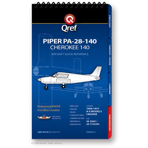 Piper Cherokee 140 PA-28-140 Qref Book ()