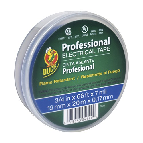 Duck Brand 300879 Professional Grade Electrical Tape, 3/4-Inch by 66 Feet, Single Roll, Blue