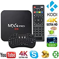 MXQ Pro 4K TV Smart With Android 6.0 Quad Core Processor Box Package