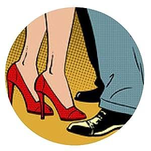 alfombrilla de ratón aman danza del hombre y la mujer abrazos pop cómics de arte de estilo retro HALFTON - ronda - 20cm