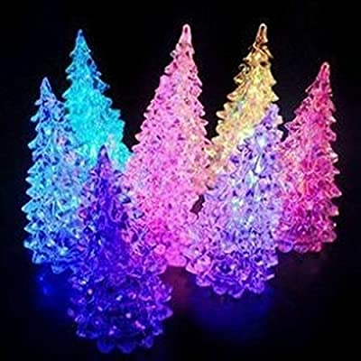 1 Pair (2pcs) Color Changing Decoration LED Night Light with Battery
