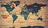 World Wood Map - Vinyl (60'' W x 35.77'' H)