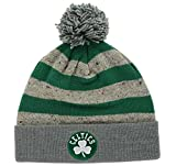 Mitchell & Ness Boston Celtics NBA Speckled Crown Oatmeal Cuffed Beanie Knit Hat w/Pom