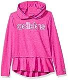 adidas Toddler Girls' on The Go Melange Hoodie, Neon Pink, 2T