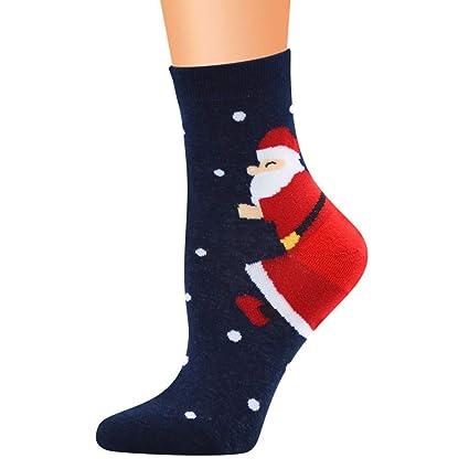 WADUARNUN Santa Claus Series Calcetines 12 Pares/Calcetines ...