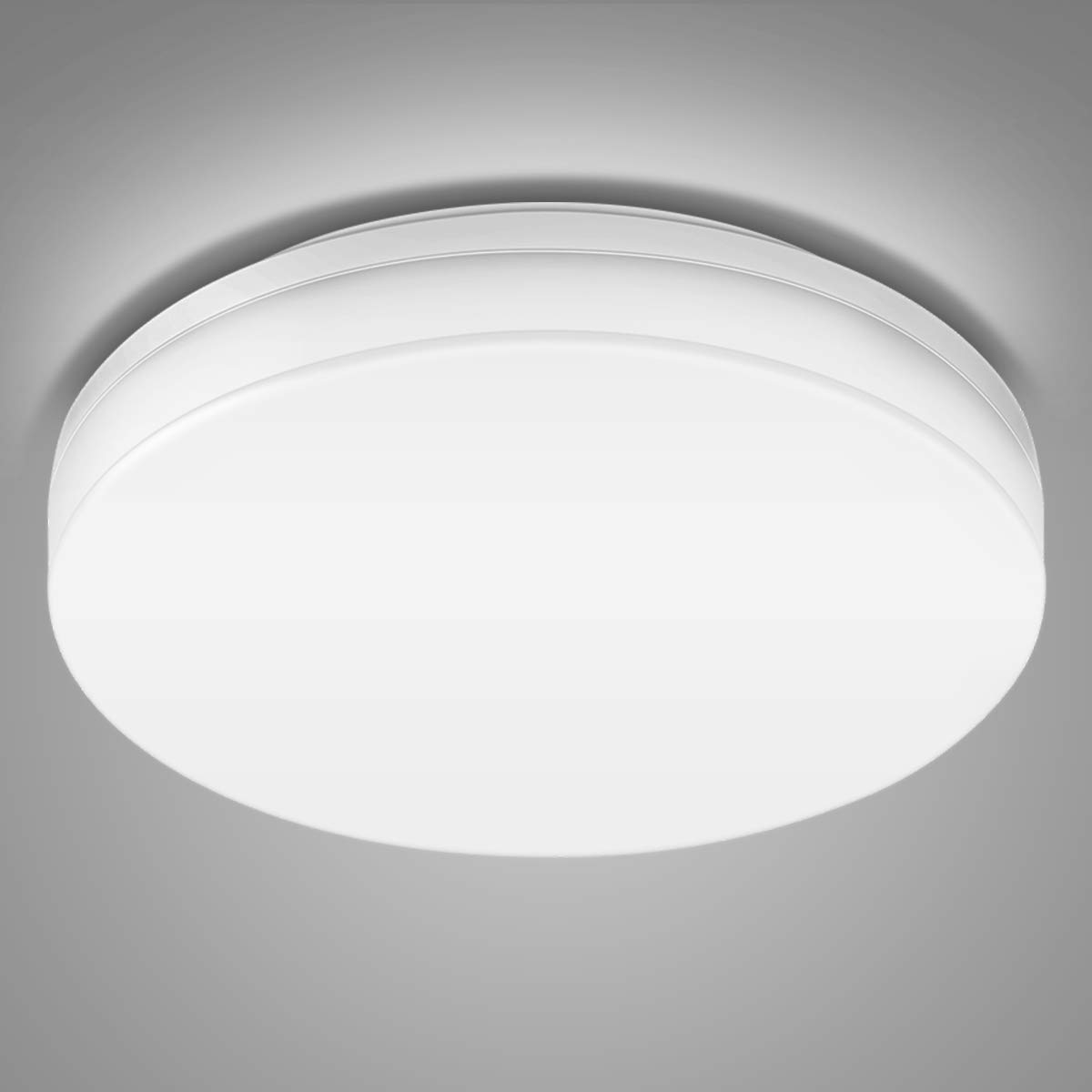 LE LED Ceiling Light, 15W, 1250lm, 100W Incandescent Replacement, 8.7 Inch Flush Mount Lighting, Non-dimmable, for Bathroom, Living Room, Bedroom, Kitchen and More, Daylight White
