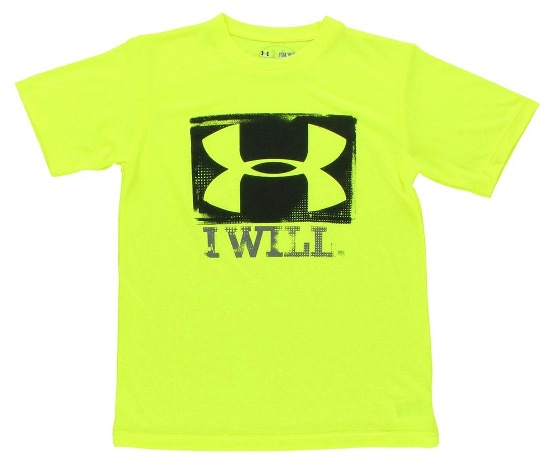Under Armour Shirt I Will T - Camiseta de running para niño, color amarillo, talla M 1242890-731