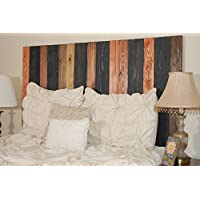 Cabin Mix Design - Queen Leaner Headboard with Vertical Boards.