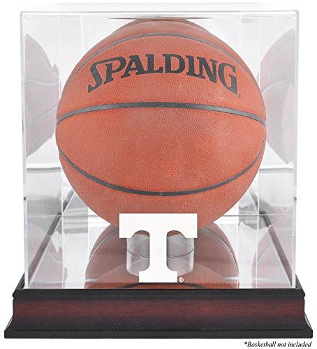 Tennessee Volunteers Basketball Display Case | Details: Mahogany Base, Antique Finish, with Mirror Back