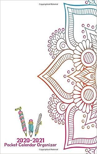 Amazon.com: 2020 - 2021 Pocket Calendar Organizer: Mandala ...