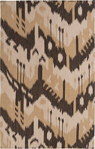 Surya Jewel Tone JT-2034 Flatweave Hand Woven 100 Wool Bronze 8 x 11 Global Area Rug