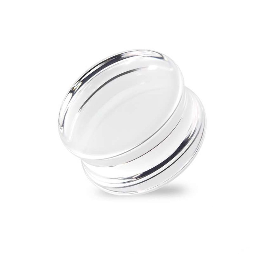 Dynamique Pair Of Solid Acrylic Clear Saddle Plugs