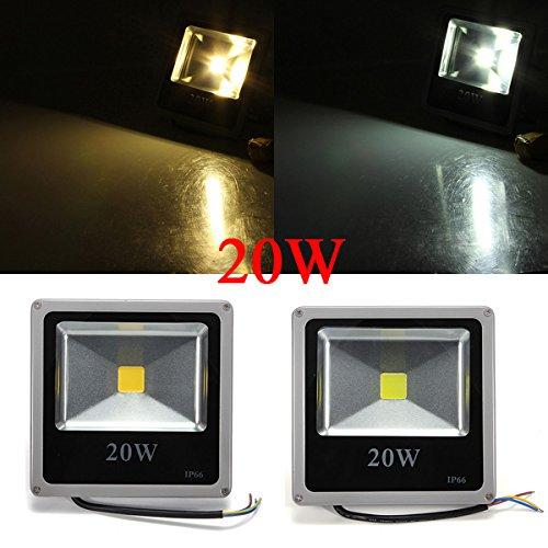 20W Weiß / Warm White LED-Flutlicht Grau Schwarz Shell AC 85-265V.