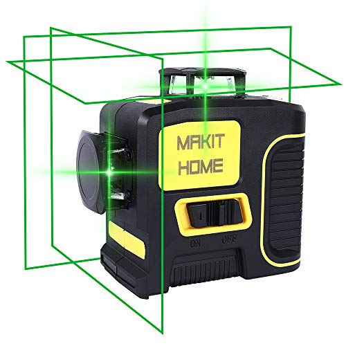 Laser Level, 3D Green Beam Self Leveling Laser Level Three-Plane Leveling and Alignment-Line Laser 3x360 Cross Line Laser Level Tool, Two 360° Vertical, and One 360° Horizontal Line