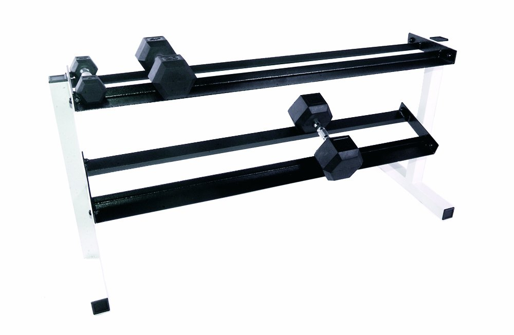 Com Cap Barbell Two Tier Dumbbell Rack 20 Inch Weight Racks Sports Outdoors