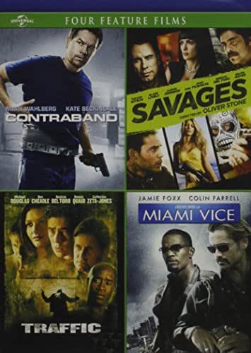 4 Drug Crime Movies: Contraband / Savages / Traffic / Miami Vice - 4 Films Dealing with Narcotic Crime