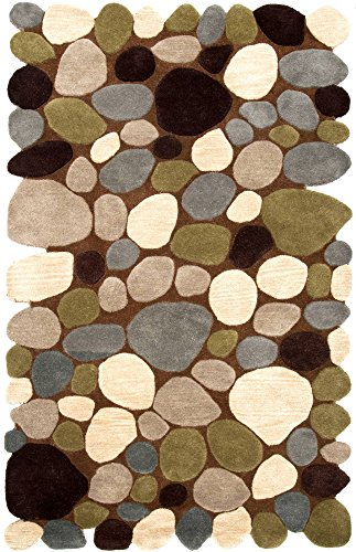 Nuloom Pebbles Collection Contemporary Hand Made Area Rug
