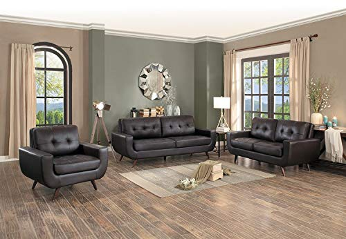 Match Brown Vinyl Leather (Homelegance Deryn 68