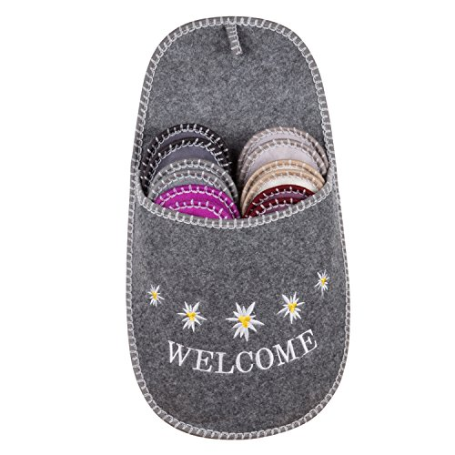 Slippers Adult Shoe Covers (GWELL Fleece Slippers Indoor Guest Soft Convenient Slippers Sets For Men/Women Edelweiss)