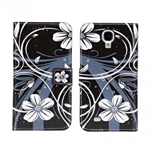 Flower Pattern Up Down Leather Case For Samsung Galaxy S4 i9500