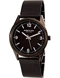 New York Black Stainless Steel Mens Watch 10030782
