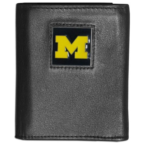 Siskiyou NCAA Michigan Wolverines Deluxe Leather Tri-fold Wallet