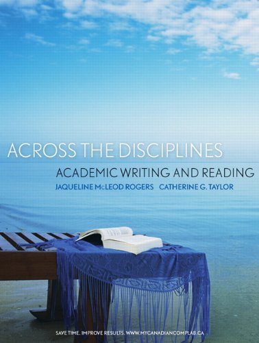 Across the Disciplines: Academic Writing and Reading