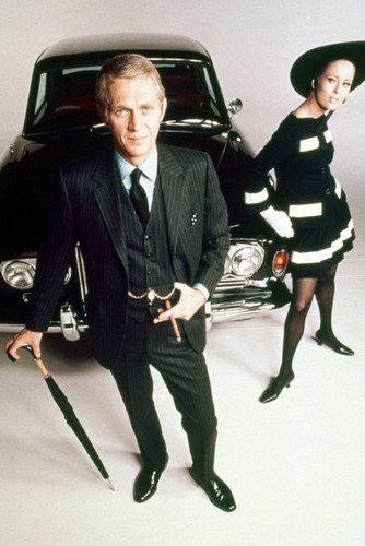 Steve Mcqueen Faye Dunaway Movie Poster Thomas Crown Affair By Vintage Car