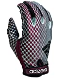 adidas Adizero 5 Star 3.0 Football Gloves, Maroon/Silver, Large
