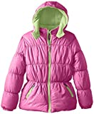 Pink Platinum Girls'  Tonal Animal-Print Puffer Jacket