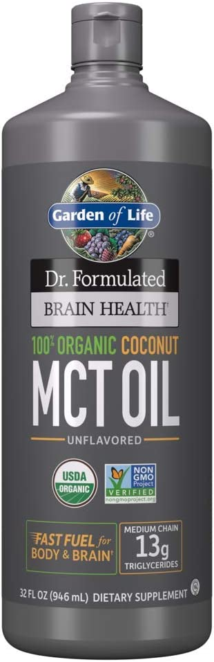 Garden of Life Dr. Formulated Brain Health 100% Organic Coconut MCT Oil