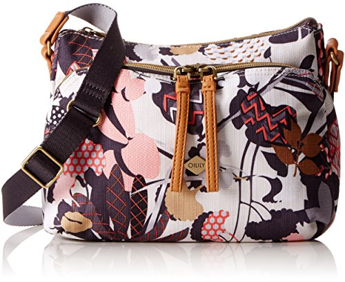 Oilily Damen S Shoulder Bag Umhängetasche, 9x19x26 cm Grau (Charcoal)